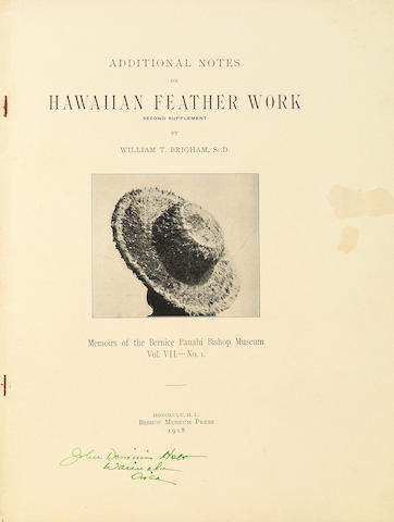 Eight volumes of Hawaiian Featherwork, circa 1899