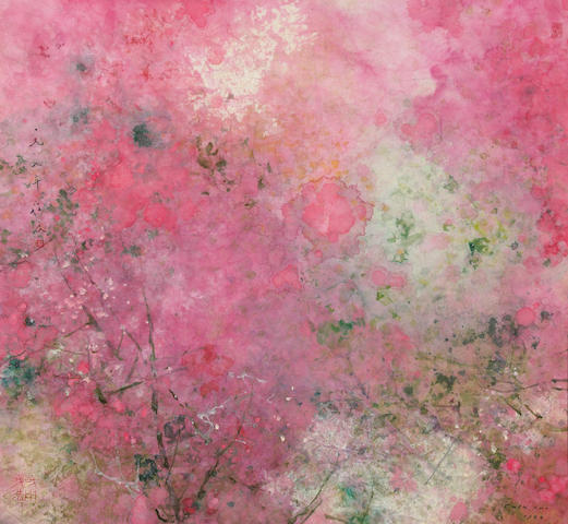 Chen Chi, Spring Blossom, watercolor on paper