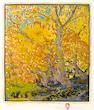 Gustave Baumann (German/American, 1881-1971); Cottonwoods;