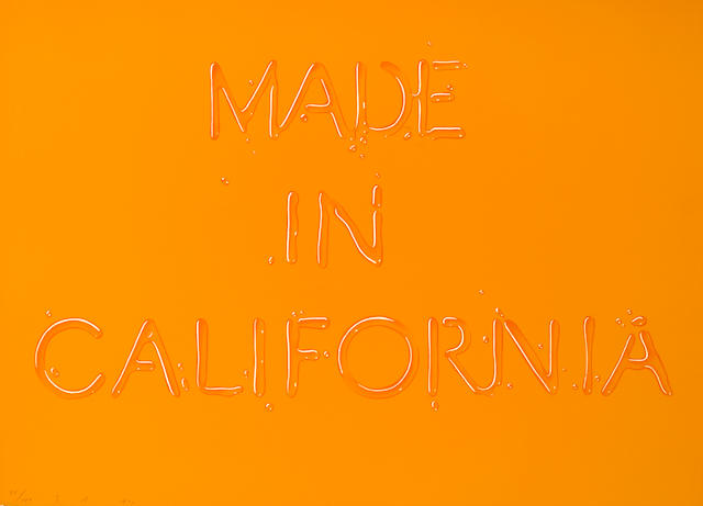 Edward Ruscha (American, born 1937); Made in California;