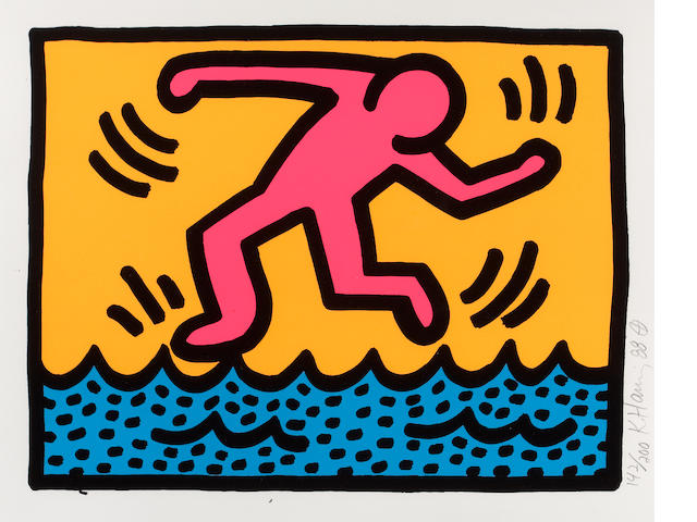 Keith Haring (American, 1958-1990); Pl. 3, from Pop Shop II;