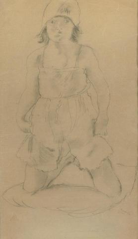 (n/a) Jules Pascin (French, 1885-1930) Genieve en culotte, 1926 18 1/2 x 11in (47 x 28cm)