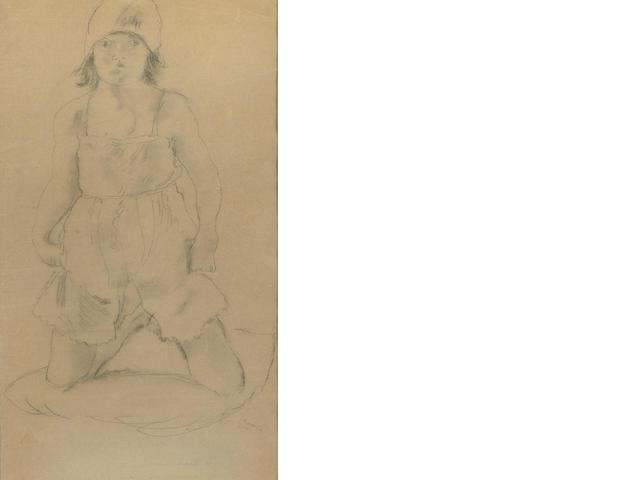 Jules Pascin (French, 1885-1930) Genieve en culotte, 1926 18 1/2 x 11in (47 x 28cm)