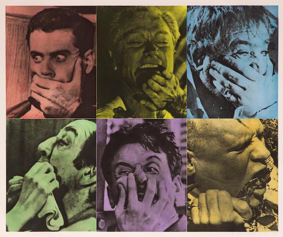 John Baldessari (American, born 1931); Six Colorful Gags (Male);