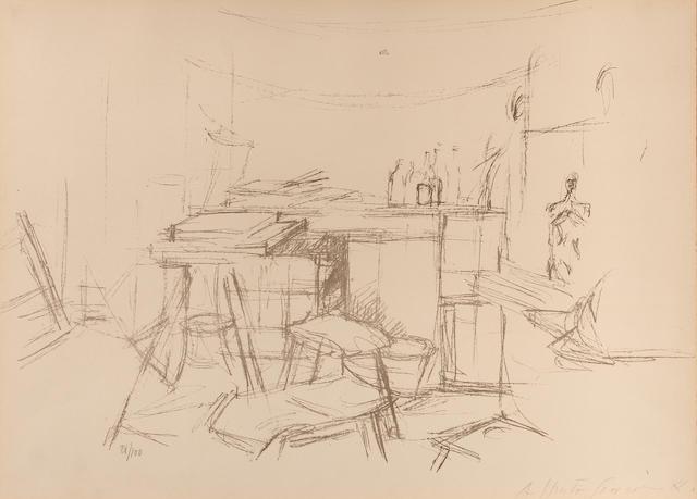 Alberto Giacometti (Swiss, 1901-1966); Atelier aux Bouteiles, from Atelier d'Alberto Giacometti;