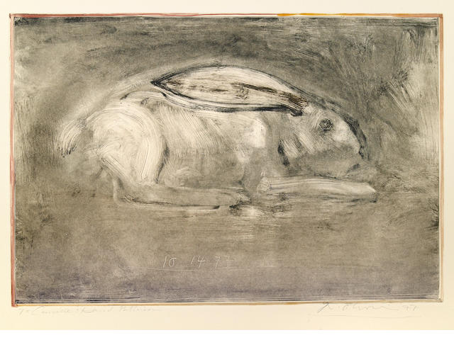 Nathan Oliveira (American, born 1928); Untitled (Rabbit);