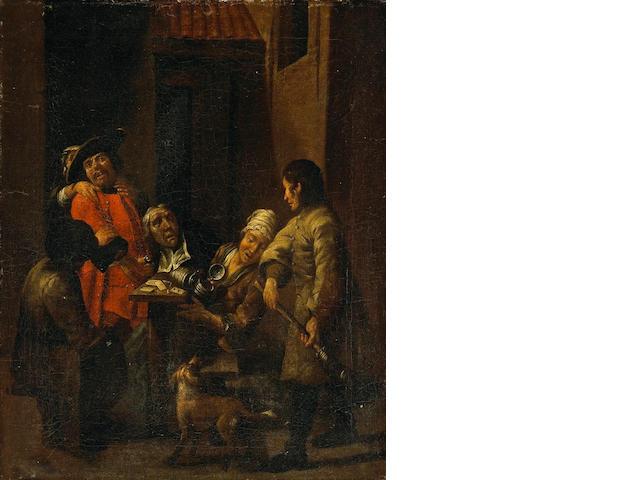Jan Josef Horemans the Elder (Flemish, 1682-1759) A dispute in a courtyard 18 3/4 x 15 1/4in (47.6 x 38.7cm)