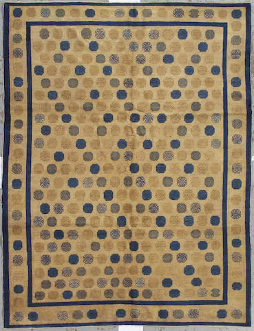 A Chinese Carpet Size approximately 9ft. 2in. x 7ft. 3in.