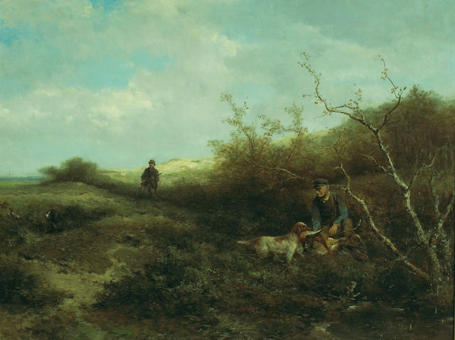 (n/a) Johan Mari Henri Ten Kate (Dutch, 1831-1910) Pheasant shooting 28 1/2 x 37 1/2in