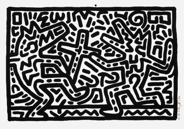 Keith Haring (American, 1958-1990); Untitled V;