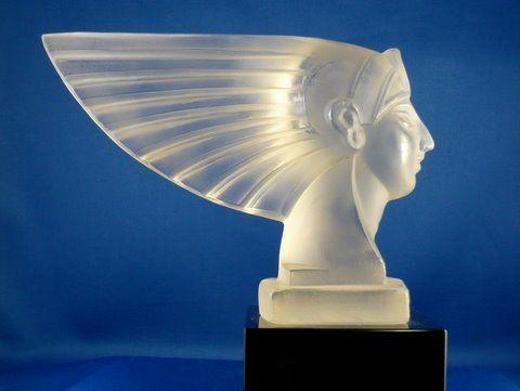 An Egyptian Pharaoh's head mascot from the original Ingrid series of glassware, circa 1935,