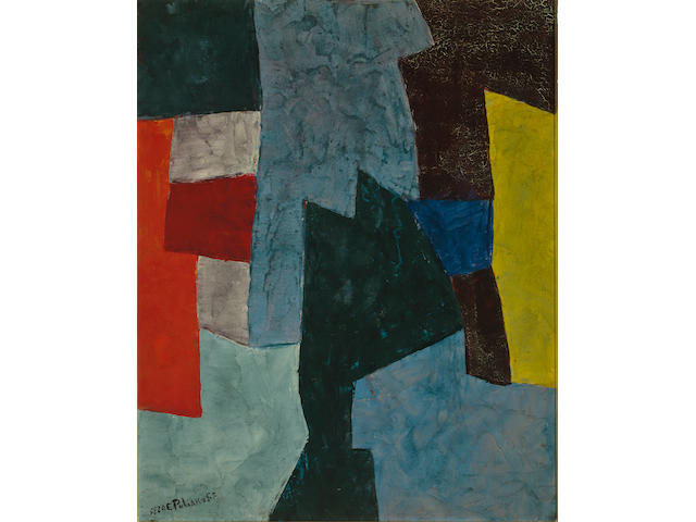 Serge Poliakoff (Russian, 1900-1969) Untitled, 1958 31 7/8 x 25 5/8in (81 x 65cm)