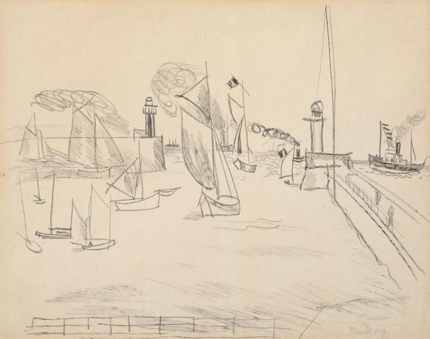 Raoul Dufy (French, 1877-1953) Marine scene