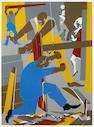 Jacob Lawrence (American, 1917-2000); Builders No. 3;