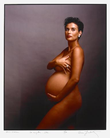 Annie Leibovitz (American, born 1949); Demi Moore 1991 cibachrome;