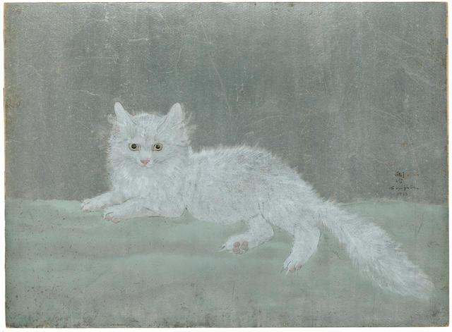 Léonard Tsuguharu Foujita (1886-1968) Le chat blanc 16 1/4 x 22in. (41 x 56cm)