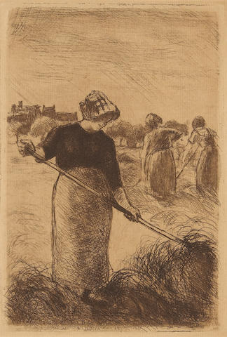 Camille Pissarro (French, 1830-1903); Les Faneuses;