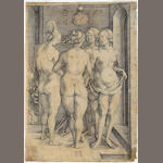 Albrecht Dürer (German, 1471-1528); Found Naked Women;