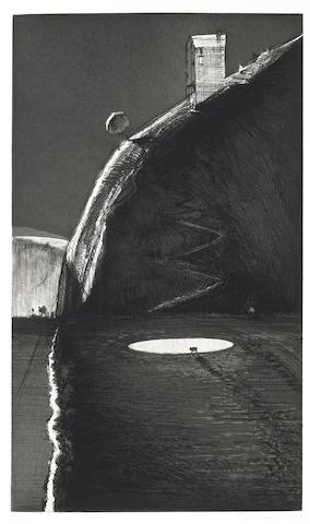 Wayne Thiebaud (American, born 1920); Night Farm;