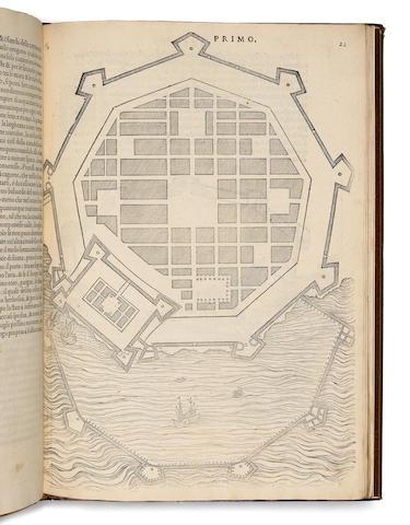 CATANEO, PIETRO.  I Quattro Primi Libri di Architettura. Venice, 1554. Folio.