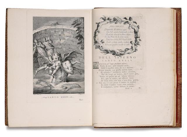 DANTE. Divina Commedia, dedicate...di Elisabetta Pretrovna. Venice: 1757-58. 4 vols.