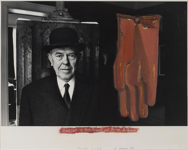 Duane Michals (American, born 1932); Portrait of René Magritte and Giorgio de Chirico;