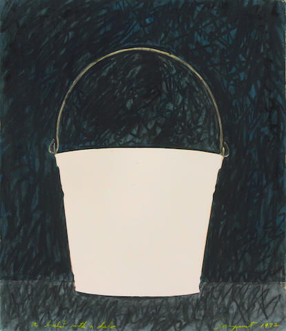James Rosenquist (American, born 1933) A Bucket with a Halo, 1972 26 x 22 1/4in (66 x 56.5cm)