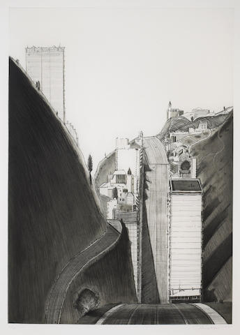 Wayne Thiebaud (American, born 1920); Black and White Park Place;
