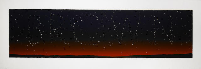 Edward Ruscha (American, born 1937); It's in the Stars;