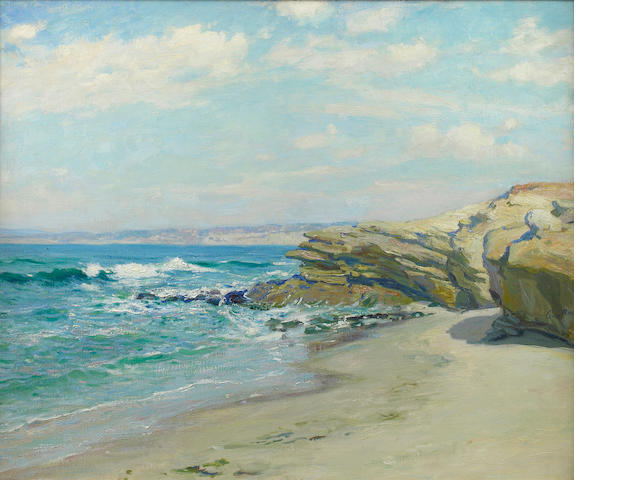 (n/a) Guy Rose (American, 1867-1925) La Jolla Beach 24 x 29in