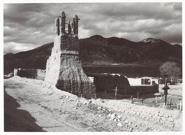 Ansel Adams (American, 1902-1984); Ruins of the Old Church, Taos Pueblo, New Mexico;