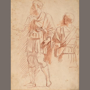 Giovanni Battista Cipriani (Italian, 1727-1785) A study of two Roman centurions 10 1/2 x 8 1/2in (26.6 x 21.5cm) unframed