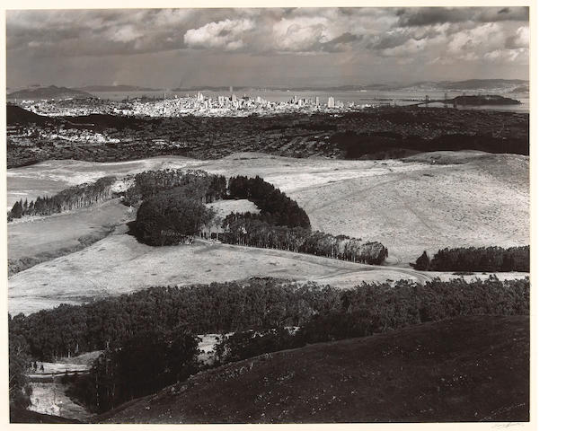Ansel Adams (American, 1902-1984); San Francisco from Television Park, San Bruno Mountain;