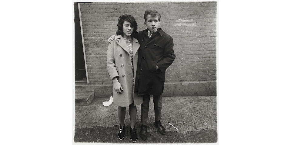 Diane Arbus (American, 1923-1971); Teenage Couple on Hudson Street, N.Y.C.;