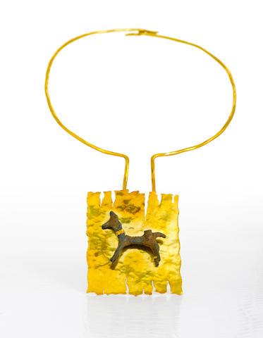 An eighteen karat gold and Luristan bronze necklace, Andrew Grima,