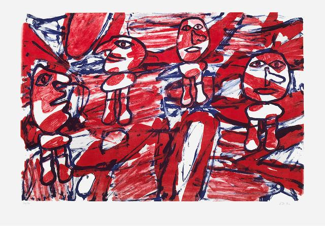 Jean Dubuffet (French, 1901-1985); Les Passants;
