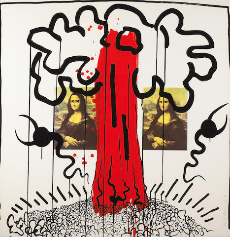 Keith Haring (American, 1958-1990); Pl. 1, from Apocalypse (by William S. Burroughs);