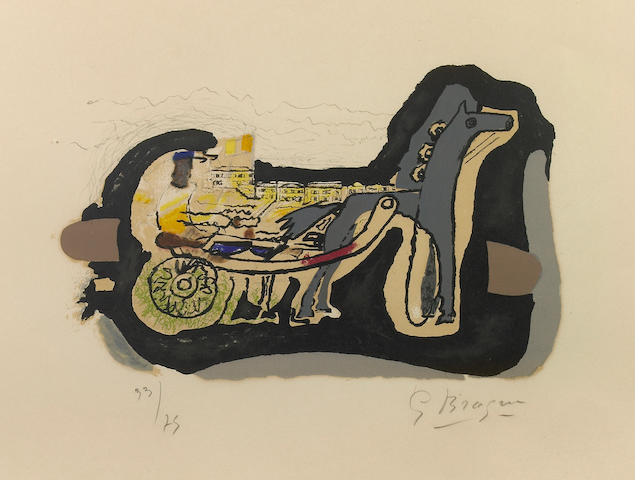 (n/a) Georges Braque (French, 1882-1963); Gélinotte;