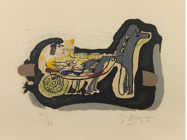 Georges Braque (French, 1882-1963); Gélinotte;