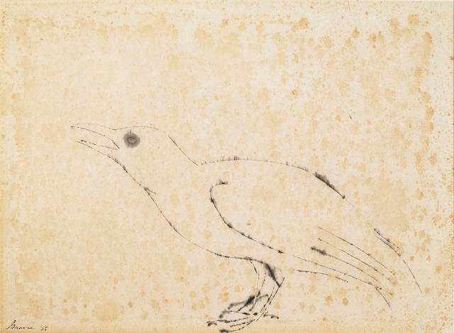 (n/a) Morris Graves (American, 1910-2001) Untitled (Bird), 1955 13 1/4 x 18in