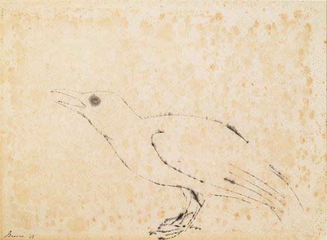 (n/a) Morris Graves (American, 1910-2001) Untitled (Bird), 1955 13 1/4 x 18in