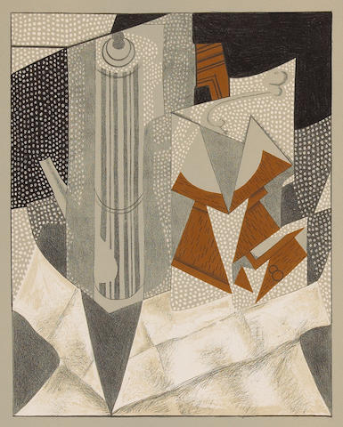 After Juan Gris (Spanish, 1887-1927); Au Soleil du plafond;