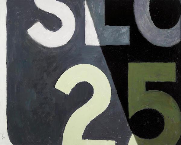 Roger Edward Kuntz (American, 1926-1975) SLO 25 24 1/4 x 30 1/4in