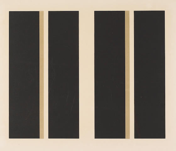 (n/a) John McLaughlin (American, 1898-1976); Untitled (Vertical Lines);