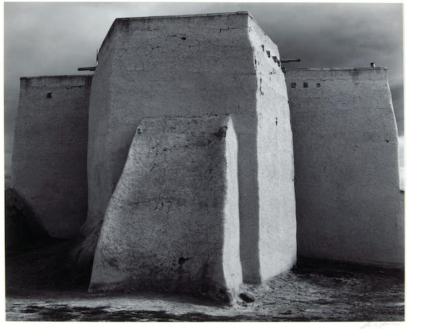 Ansel Adams (American, 1902-1984); St. Francis Church, Ranchos de Taos, New Mexico;