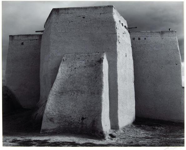 Ansel Adams (American, 1902-1984); St. Francis Church, Ranchos de Taos, New Mexico;