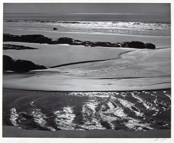 Ansel Adams (American, 1902-1984); Refugio Beach, California;
