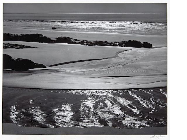Ansel Adams (American, 1902-1984); Refugio Beach, California;
