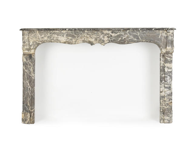 A Louis XV style marble fire surround 19th century