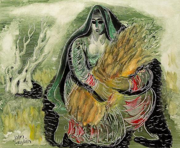 (n/a) Reuven Rubin (Israeli, 1893-1974) Ruth, 1963 15 3/16 x 18 1/2in (38.5 x 47cm)